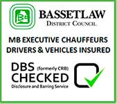 Bassetlaw District Council MB Executive Chauffeurs Drivers & Vehichles Insured
